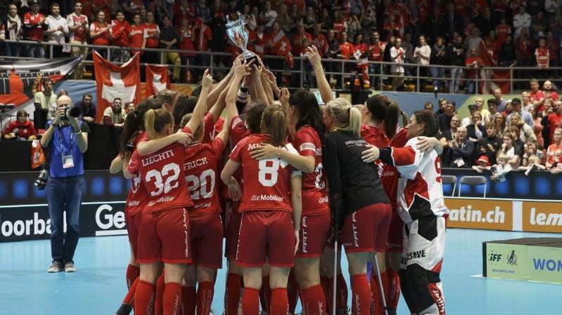 Les joueuses de l'équipe suisse d'unihockey ont particulièrement apprécié l'ambiance à Neuchâtel.