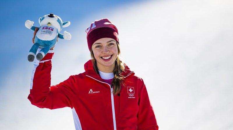 Après l'or en super-G, Amélie Klopfenstein remporte le bronze du combiné