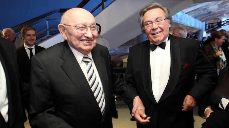 Le chef d'orchestre (à droite, en 2011) est mort dans sa ville de Dresde.