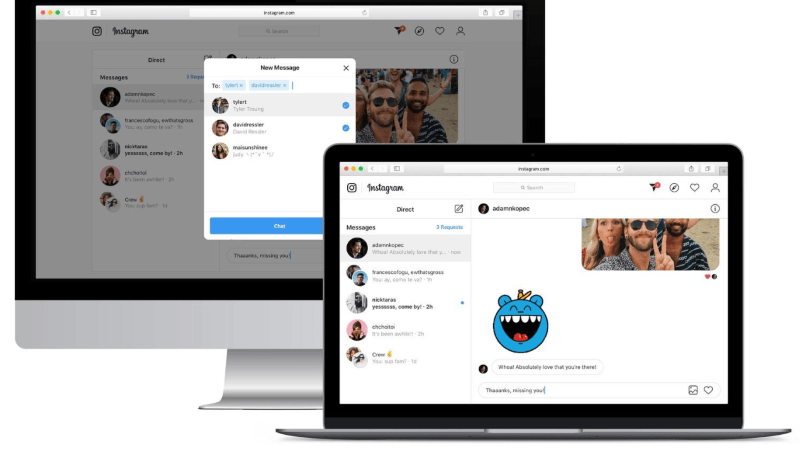 Réseaux sociaux: Instagram va permettre d'envoyer des messages privés depuis un ordinateur