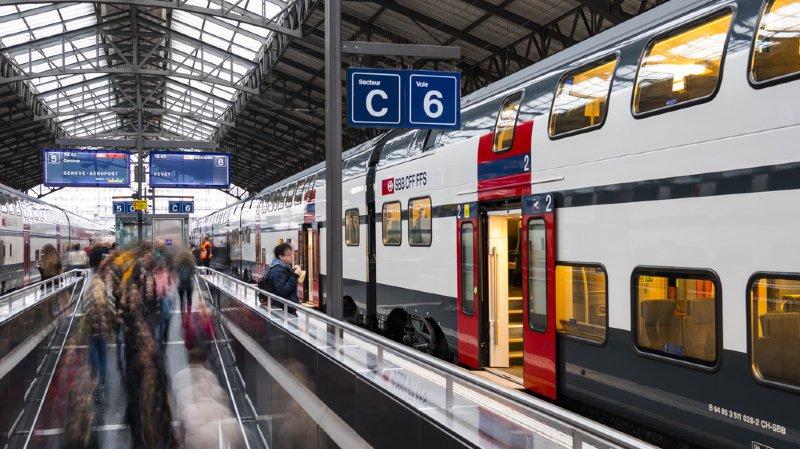 La Suisse est stable d'année en année dans l'utilisation des trains. (illustration)