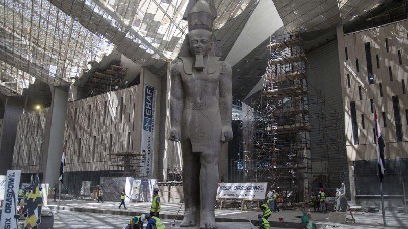 Egypte: découverte d'un buste de Ramsès II