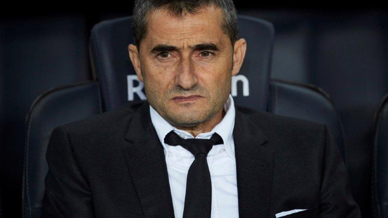 La défaite face à l'Atlético de Madrid en Supercoupe d'Espagne a été celle de trop pour Ernesto Valverde. (illustration)