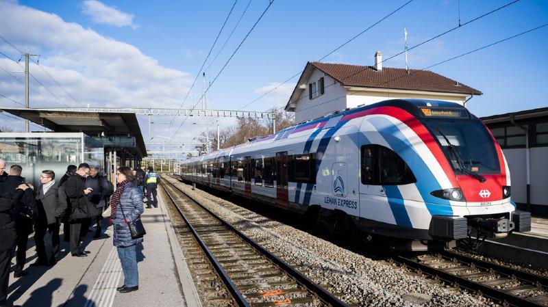 Le premier convoi du Léman Express partira peu après 05h00 de Coppet dimanche (ILLUSTRATION)