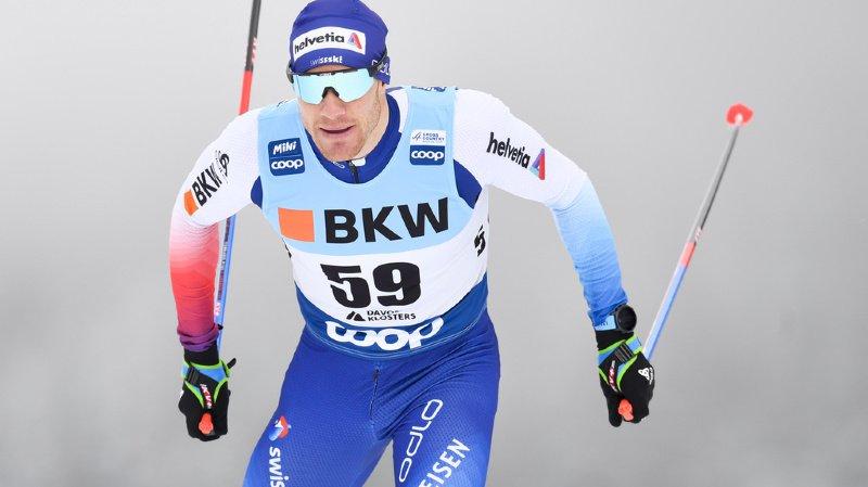 Ski nordique: Cologna 6e de la première étape du Tour de Ski, gagnée par Ustiugov