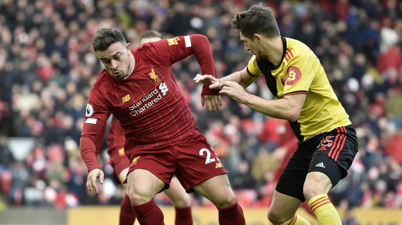 Football: Shaqiri se blesse à nouveau, retour prévu dans une dizaine de jours