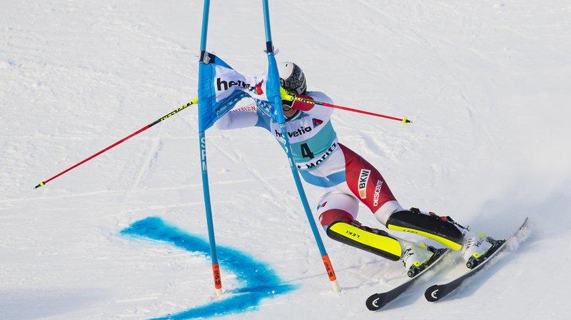 Ski alpin: Wendy Holdener, 26e, se qualifie dans la douleur pour le slalom parallèle de St-Moritz
