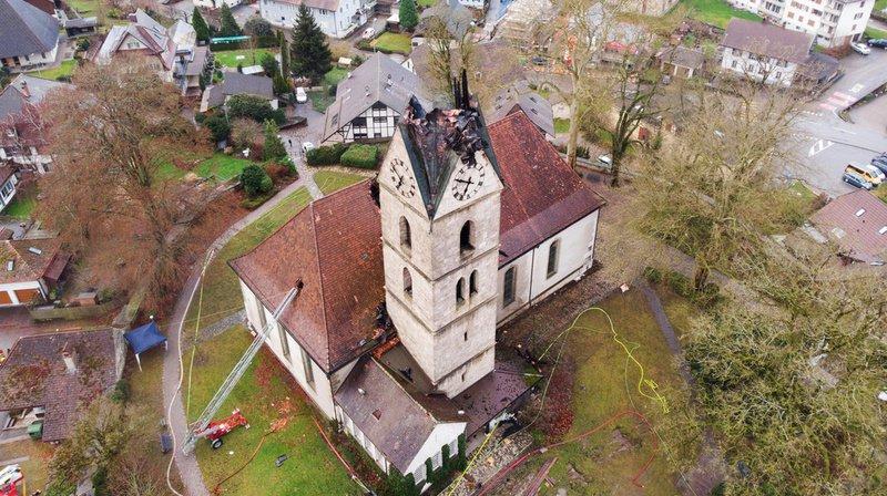 Berne: les dégâts de l'incendie d'une église réformée sont estimés à plus d'un million de francs