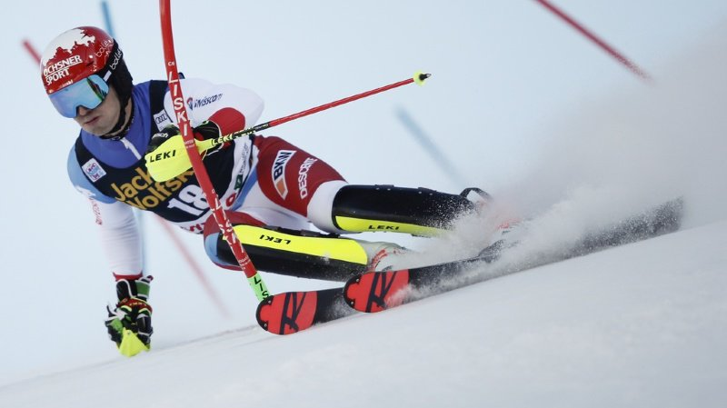 Ski alpin: Loïc Meillard termine 3e du combiné de Bormio