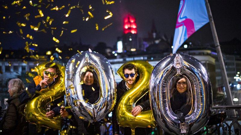 Les Suisses sont descendus dans les rues pour fêter l'arrivée de la nouvelle année.