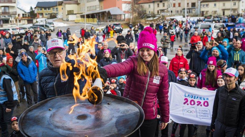 JOJ 2020: A cinq jours de l'inauguration, la flamme fait son retour en Suisse