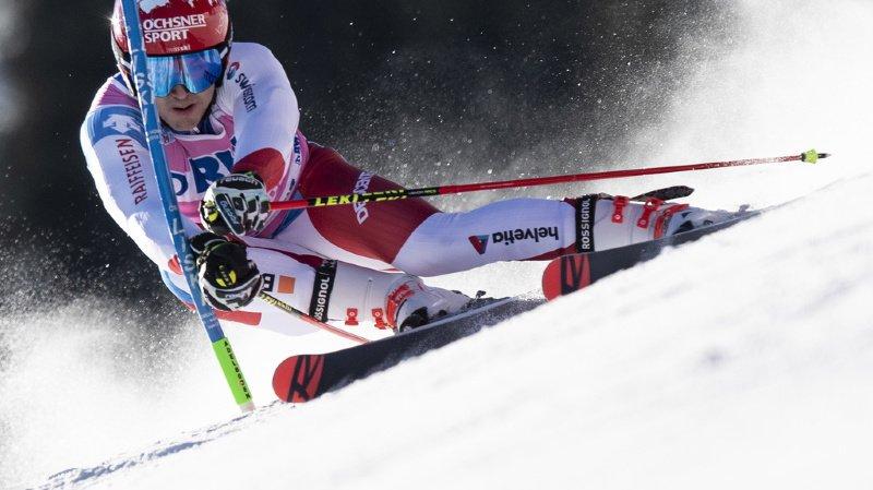 Ski alpin: Loïc Meillard troisième après la première manche du géant d'Adelboden