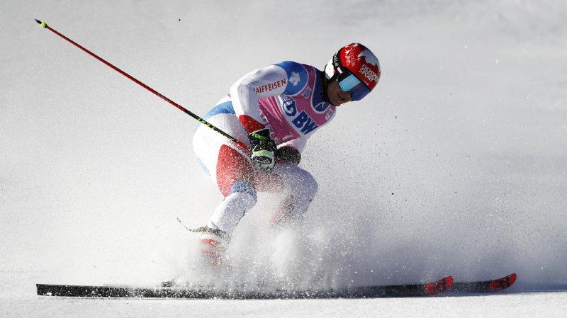 Ski alpin: Loïc Meillard craque en 2e manche et termine 17e du géant d'Adelboden