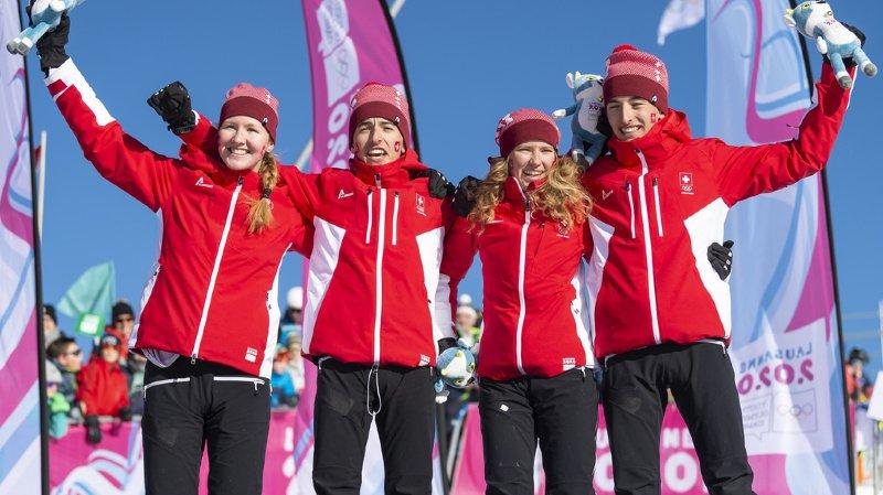 JOJ 2020: la Suisse décroche l'or en relais mixte de ski alpinisme