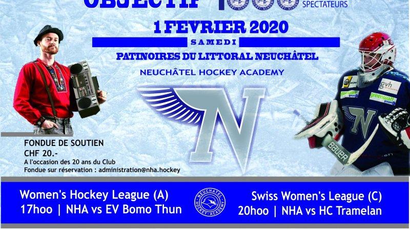 Objectif 1000, 20 ans HC Neuchâtel hockey Academy
