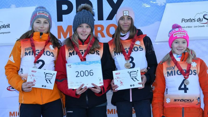 Justine Herzog (tout à gauche) a terminé deuxième en filles nées en 2006.