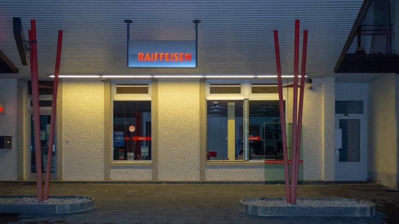 Jura: cambriolage à la banque Raiffeisen de Fahy