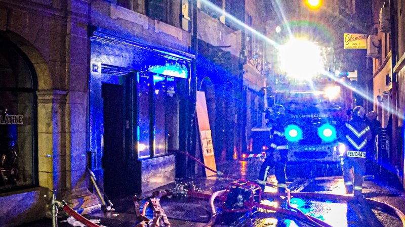Neuchâtel: incendie maîtrisé à la rue des Moulins