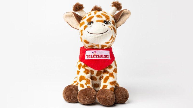 Josefine la girafe est la peluche officielle du Téléthon 2019.