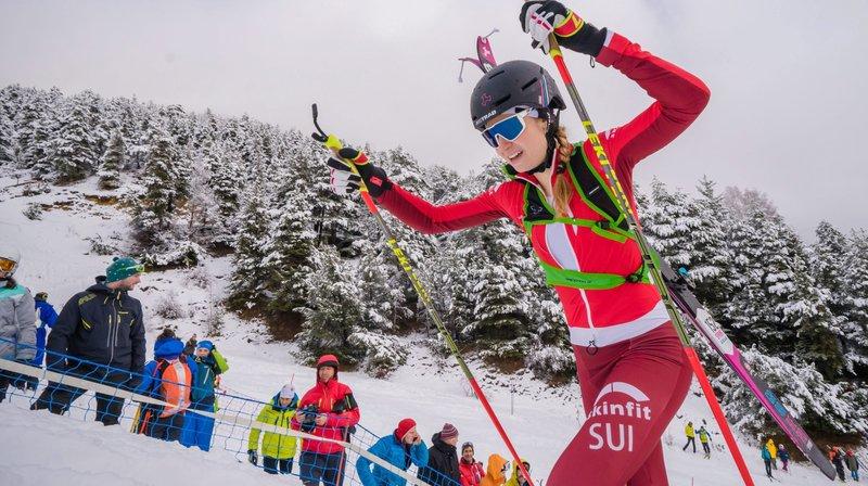 Marianne Fatton a remporté l'épreuve de sprint à Aussois, en France. (Photo CAS / Maxime Schmid).
