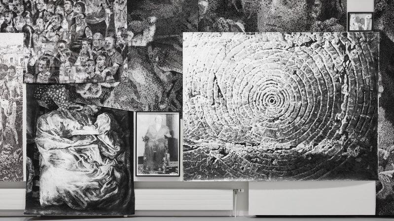 Les mondes graphites de Jérôme Zonder s'approprient le Musée des beaux-arts du Locle