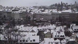 Offensive hivernale en Suisse, Berne recouverte d'un manteau blanc