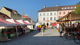 Saint-Imier: les marchés du mardi et du vendredi à la place du Marché