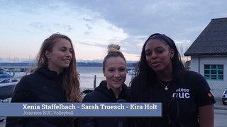 Les vœux de fin d'année de Xenia Staffelbach, Sarah Troesch, Kyra Holt et Frédéric Mérat