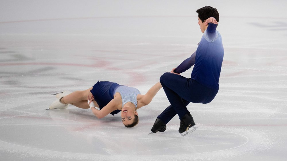 Nicolas Roulet et Alexandra Herbrikova en pleine action.