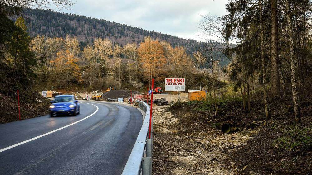 Les routes neuchâteloises sont désormais soumises à un nouveau régime. Ici la route Villiers - Le Paquier en novembre 2019, après sa réfection suite aux intempéries du mois de juin.
