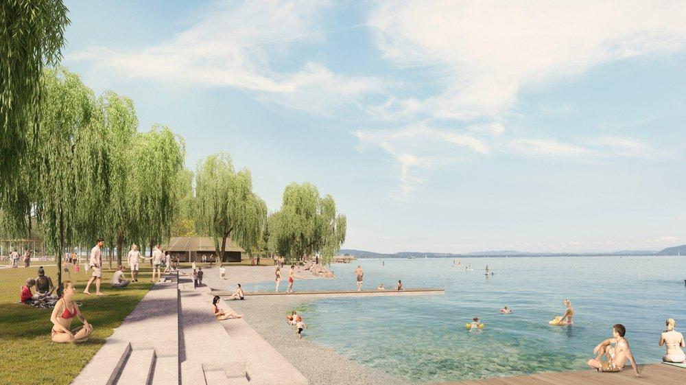 Une image de synthèse de la plage imaginée pour les Jeunes-Rives.