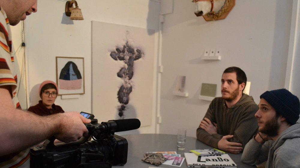 En tournage à Neuchâtel avec le collectif U-Zehn.