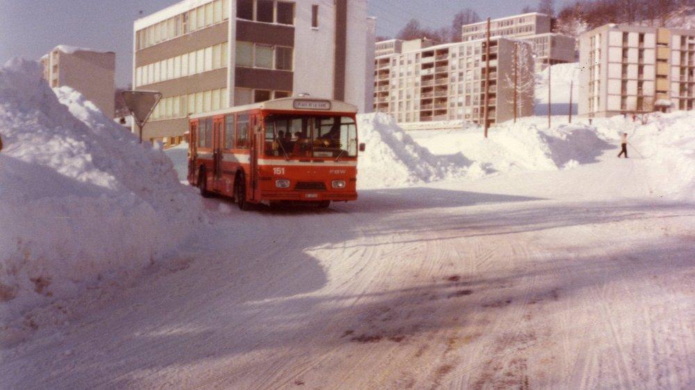Le nord-ouest de La Chaux-de-Fonds durant l'hiver 1980-1981.