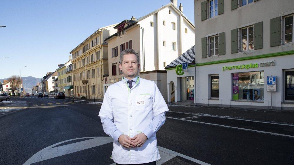 A l'origine de ce rassemblement d'acteurs économiques, Sébastien Marti, le pharmacien de Cernier, regorge d'idées pour animer le centre du village.