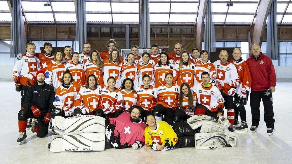 L'équipe nationale de bandy, ici aux Ponts-de-Martel.