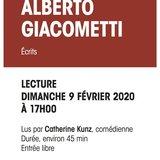 Alberto Giacometti - Lecture