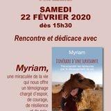 Myriam, une survivante en dédicace
