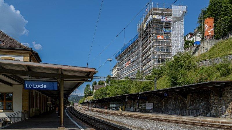 Le Locle: la rénovation de la gare sur les rails