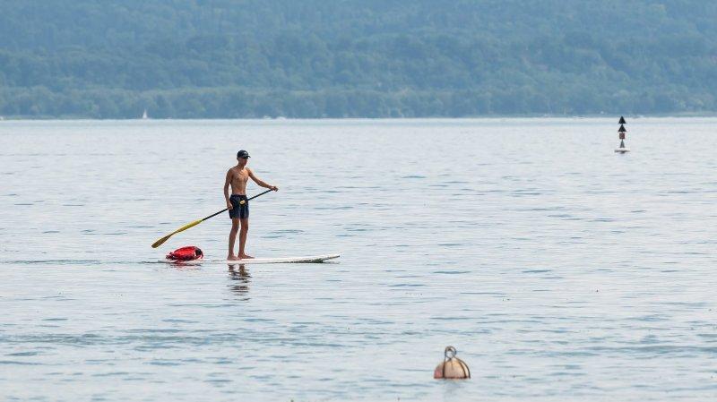 Lac de Neuchâtel: faire du paddle, oui, mais en sécurité!