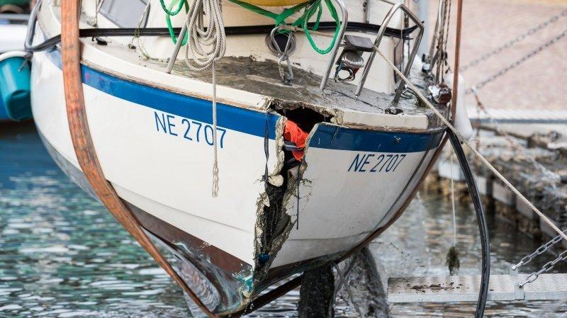 Port de Serrières: «La Marie-Joseph» sauvée des eaux