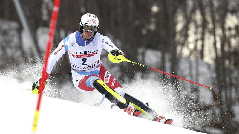 Ski alpin: Ramon Zenhäusern termine 5e du slalom de Chamonix, Daniel Yule éliminé