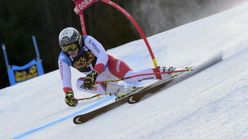 Ski alpin: Wendy Holdener au pied du podium après la 1re manche du géant de Kranjska Gora
