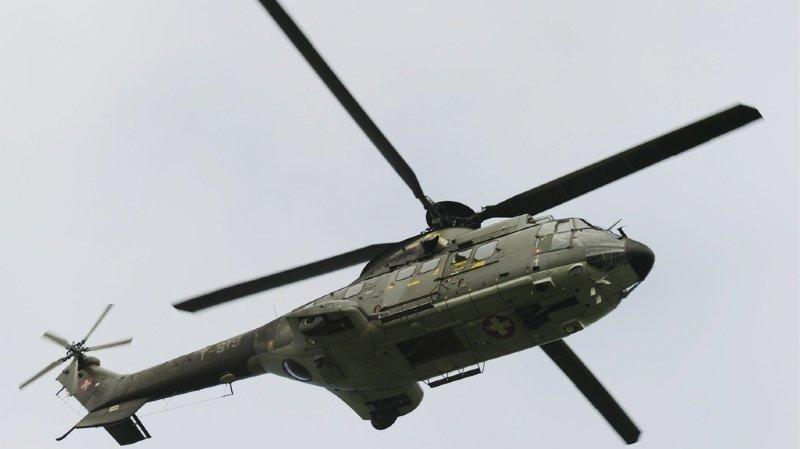Soleure: deux voleurs présumés arrêtés par un hélicoptère de l'armée