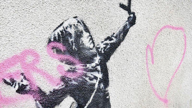 Grande-Bretagne: un Banksy réalisé pour la Saint-Valentin vandalisé