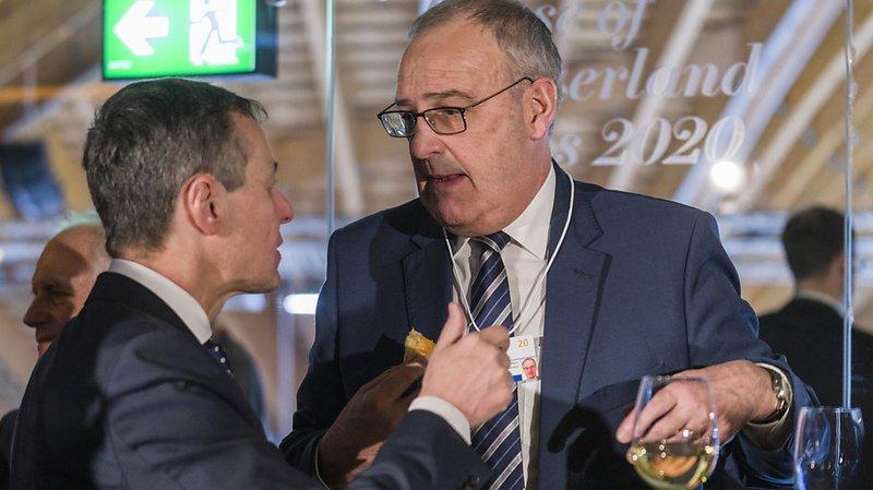 La question d'un accord commercial avec les Etats-Unis a largement été mentionnée par les conseillers fédéraux avec un Ignazio Cassis plus optimiste que Guy Parmelin.