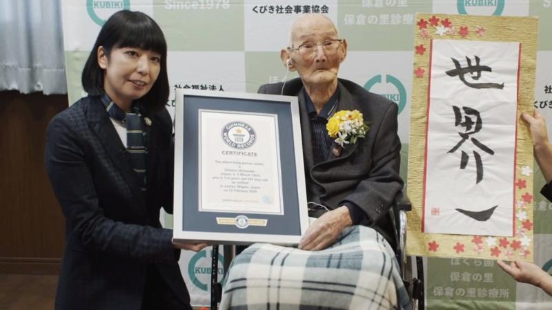 Record: le Japonais Chitetsu Watanabe, 112 ans, est le nouveau doyen de l'humanité