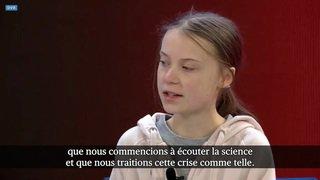WEF 2020: Greta Thunberg veut que les scientifiques soient écoutés