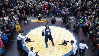 Zoug: tentative de record de la plus grande tarte au kirsch du monde
