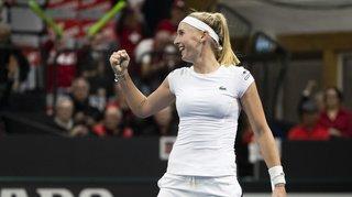Tennis – Fed Cup: Teichmann bat Dabrowski, la Suisse disputera le tournoi final de Budapest
