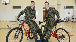 Macolin: Alexandre Balmer et Valère Thiébaud sont des soldats très sportifs et prêts à grader